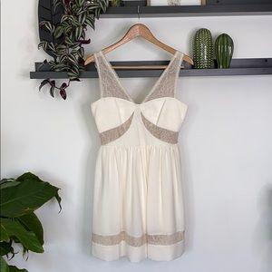 Maxandcleo Creme colored dress size 4
